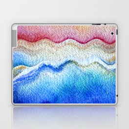 Sunset waves in watercolor Laptop & iPad Skin