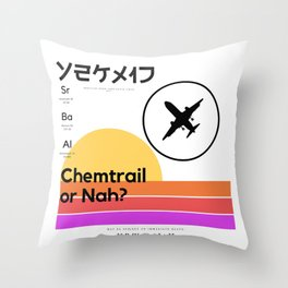 Chemtrail Cruel†y Throw Pillow