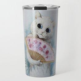 Louis Wain's Feline Temptress With Fan Travel Mug