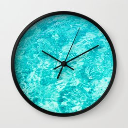 Turquoise Waters Wall Clock