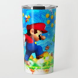 Super Mario Van Gogh style Travel Mug