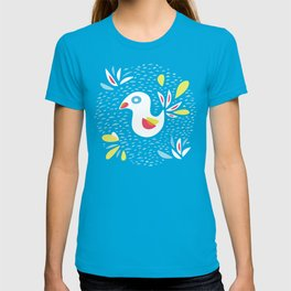 Abstract Bird In Spring T-shirt