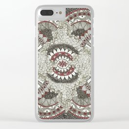 Mandala-la-la Collab Clear iPhone Case
