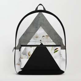 Arrows Monochrome Collage Backpack