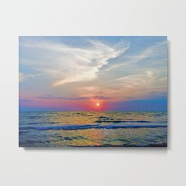 Naples Florida sunset on the Gulf of Mexico Metal Print