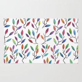 Leafy Twigs - Multicolored Rug