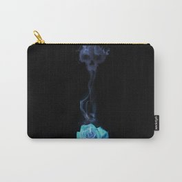 Pale Blue Rose - Smoke skull Carry-All Pouch