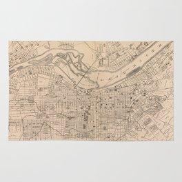 Vintage Map of Louisville Kentucky (1873) Rug