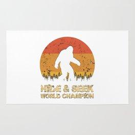 Vintage Hide And Seek World Champion Bigfoot Sasquatch Rug
