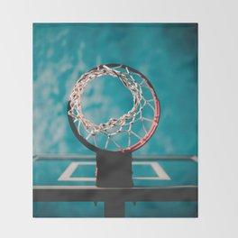 basketball hoop 6 Throw Blanket