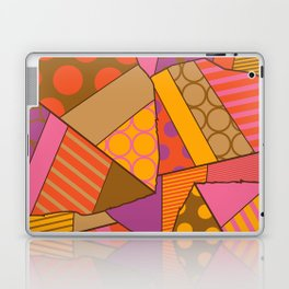 Graphic Leaf Patchwork (Fall Bold Colors) Laptop & iPad Skin