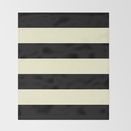 Black and Cream Stripe Throw Blanket