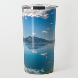 Breathtaking View from a famous scenic Lookout at Lake Wakatipu Travel Mug