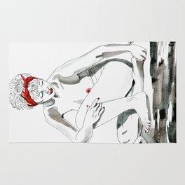 Mother Earth Grounding; seated nude Rug