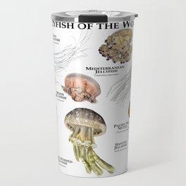 Jellyfish of the World Travel Mug
