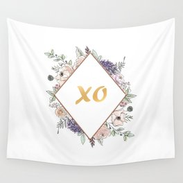 Lettering and Watercolor Flowers #3 Wall Tapestry