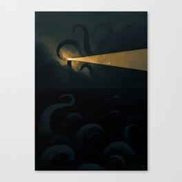 Good job leading that ship onto the rocks dude, high five! Canvas Print