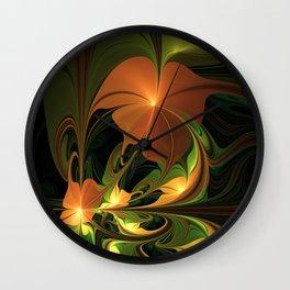 Fantasy Plant, Abstract Fractal Art Wall Clock