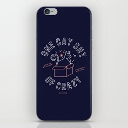 One Cat Shy of Crazy – Blush & Denim Palette iPhone Skin