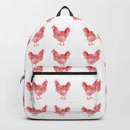 red rooster drawing, red Backpack