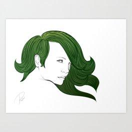 Forest daughter Art Print