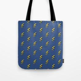 Lightning Bolts - Blue Tote Bag