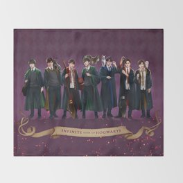 Infinite goes to Hogwarts Throw Blanket
