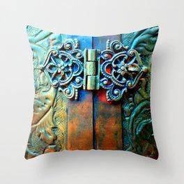 Ophelia (Patina) Throw Pillow