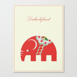 Swedish Elephant Canvas Print