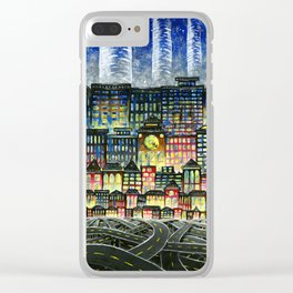 Crowded Haunts Clear iPhone Case