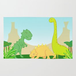 Friendly dinosaurs Rug