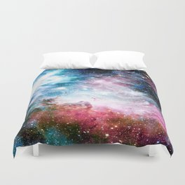 Carina Nebula : Colorful Galaxy Duvet Cover