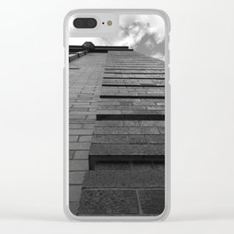 Vertical Brick Wall Architectural Photographic Print Clear iPhone Case