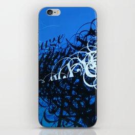 Crescendo in blue iPhone Skin