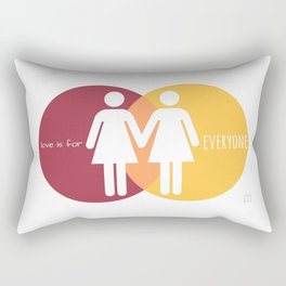 Love Is For Everyone - Her & Her Rectangular Pillow