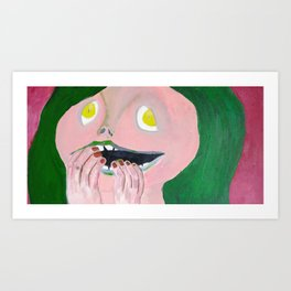 WHat are you laughing at Art Print
