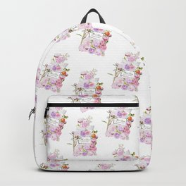 Parfum Perfume Fashion Floral Flowers Blooming Bouquet Backpack