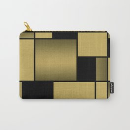 Mondrian Neoplastic Gold Art Carry-All Pouch