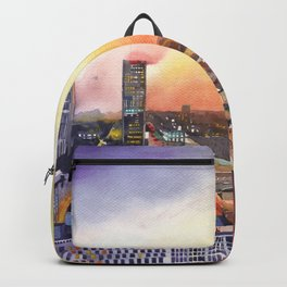 Sunset in Warsaw Backpack