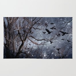 Woodland Crows And Bursting Stars Rug