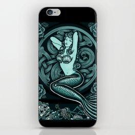 Blue Mermaid - Monochrome iPhone Skin