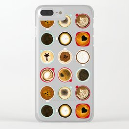 Diffent Sides of Coffee Clear iPhone Case