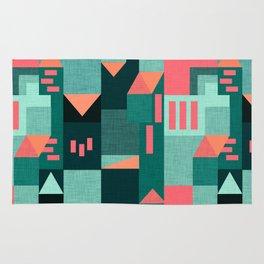 Teal Klee houses Rug