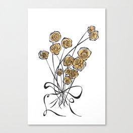 GOLDEN BLOOMS Canvas Print