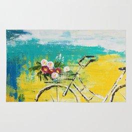 flower bike Rug