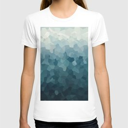 Ice Blue Mountains Moon Love T-shirt