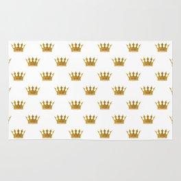 Wedding White Gold Crowns Rug