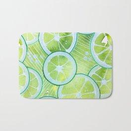 Lime Rings Bath Mat