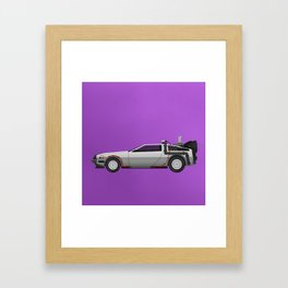 Back to the Future DeLorean 1 Framed Art Print