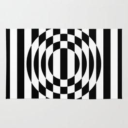 Hot Spot || Black & White Rug